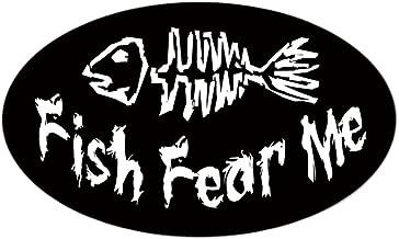 CafePress Fish Fear Me Oval Sticker Oval Bumper Sticker, Euro Oval Car Decal