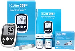 CURO G6s Glucose Bluetooth Home Test Kit - Blood Sugar Monitor Device and Included Set of 50 Strips (Limited TIME Promotional Offer)