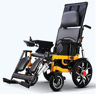 ZHANGYY Sillas de Ruedas eléctricas, Ligeras Sillas de Ruedas eléctricas Sillas de Ruedas portátiles automáticas Inteligentes Plegables Adecuadas para Personas discapacitadas con Ruedas Si