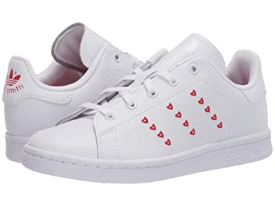 adidas Originals Kids Stan Smith (Little Kid) (White/Lush Red) Girls Shoes