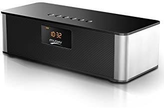 Bluetooth Speaker,XPLUS All-in-1 Portable Travel Wireless Bluetooth Speaker Alarm Clock FM Radio,10W,HIFI V4.0,Calling Built-In Mic,Support TF Card for Smartphones and All Audio Enabled Devices(Black)