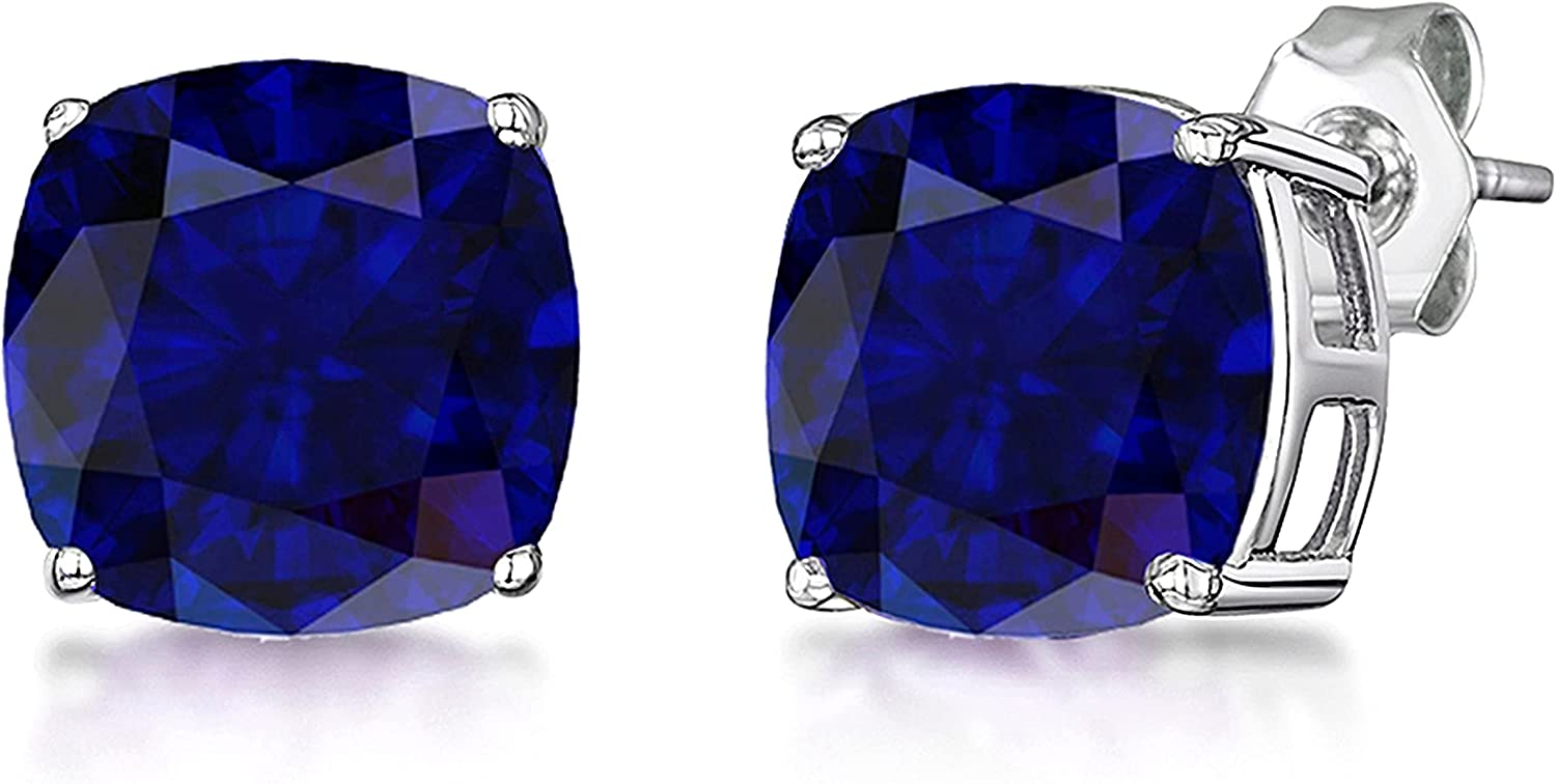 3.00 Ct Fresno Mall Cushion Cut Created Same day shipping Solitaire Birthstones Earrings Stud