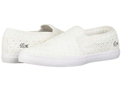 Lacoste Gazon 219 1 CFA (White/White) Women