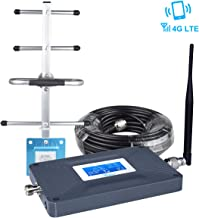 AT&T Cell Phone Signal Booster Amplifier for Home, AT&T Cricket Signal Booster Connect 4G LTE 700mhz Band 12/17 -LCD Screen AT&T U.S. Cellular T-Mobile Cell Booster, Enhance DATA Call,65±3dB 2000sq.ft
