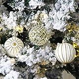 SONGHJ 24 Piezas 6cm Bola De Navidad Cubo Embalaje Bolas De Colores Decoración del Árbol De Navidad Bolas Pintadas Regalos De Decoración De Año Nuevo
