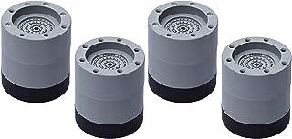 Baoblaze 4x Geladeira Secadora Almofada Antivibração de Lavar Almofadas de Choque Tapete Antiderrapante - 6cm cinza