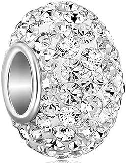 S/éparateur de perles Uniqueen Compatible avec bracelet Clip en pierre de naissance