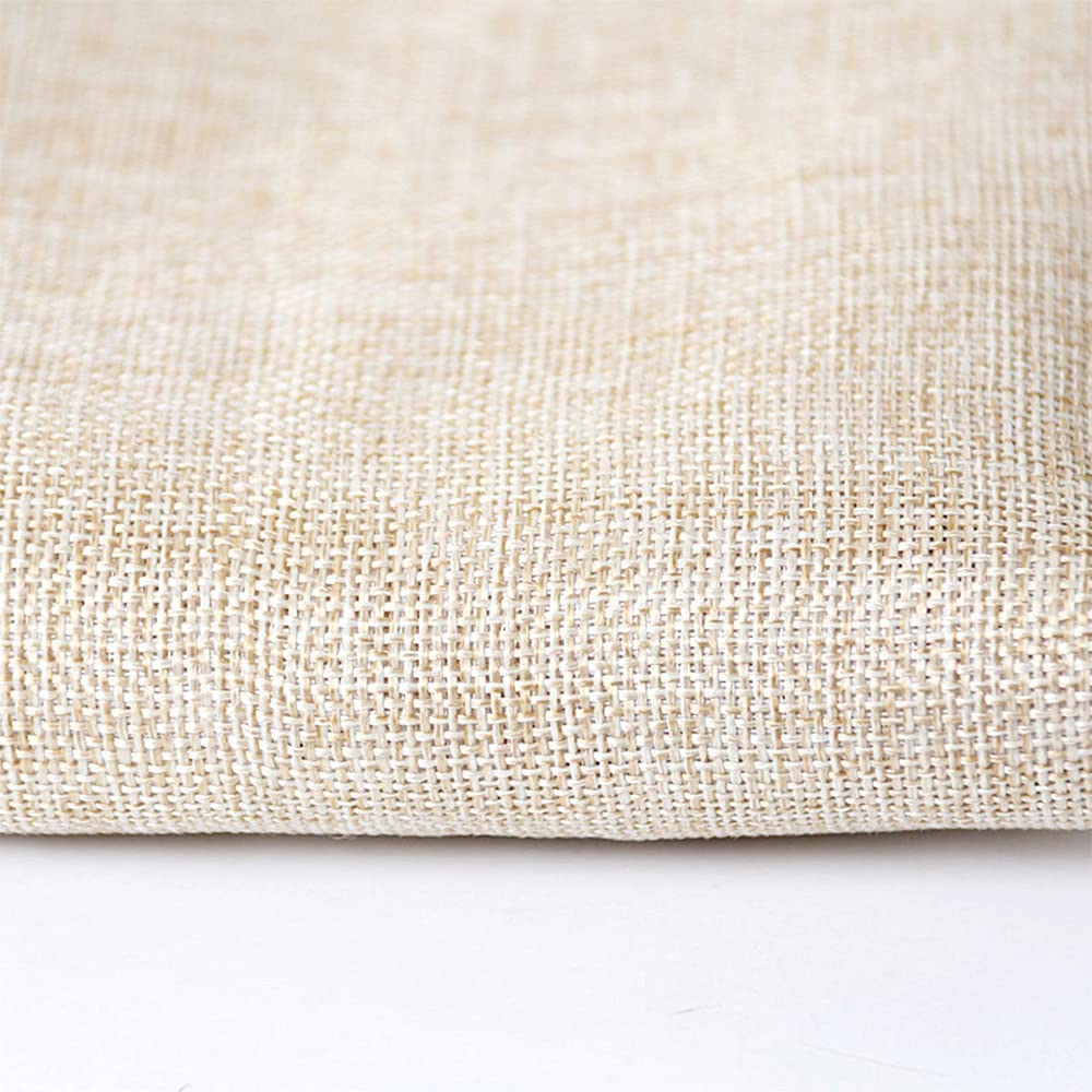 Flushbay Speaker Grill Cloth Linen Speaker Fabric Protective Dustproof Mesh Cloth Stereo Fabric Replacement for Home Speakers, Media Cabinet, Stage Speakers, KTV Boxes Repair 19.7''x57.5'' (Beige) : Electronics