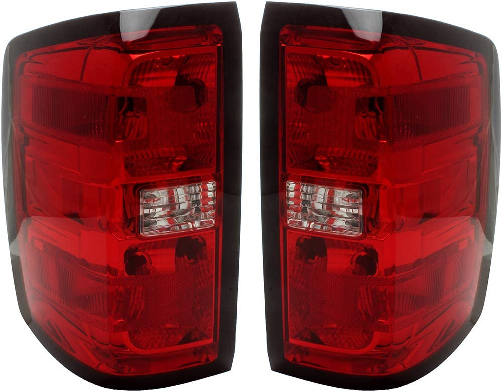 Tail 割引も実施中 Light Compatible ギフ_包装 With Gmc Sierra 2015 Set Pair Taillam 2014