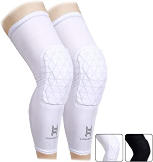 HOMZHEN Knee Compression Sleeves Knee Braces Compression Leg Sleeve for Basketball, Volleyball, Weightlifting, and More - Pair of Sleeves Knee Pads Compression Leg