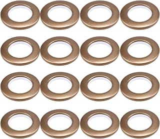 "CENGOOD Curtain Grommets Inner Diameter 1-9/16""(4cm) Silencer Sliding Brown Pack of 16"