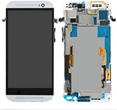 For HTC M8 LCD Replacement Touch Screen Digitizer & LCD Display Assembly (Silver + Frame)