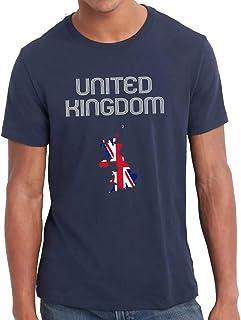 UK   United Kingdom   Great Britain   Union Jack Territory Flag Cotton T-Shirt For Men