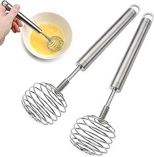 minghaoyuan Cuisine Fouet, Mini Batteur à Fouet en Acier Inoxydable, Manuel Batteur À Oeufs Cuisine Accessoires Pour Mélan...