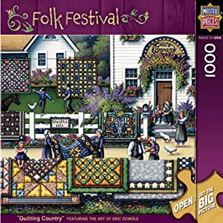 MasterPieces Folk Festival Collection Quilting Country Jigsaw Puzzle, 1000-Piece