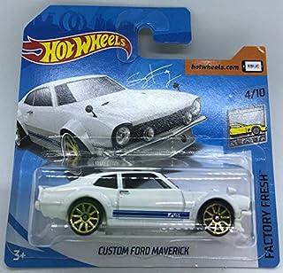 Hot Wheels 2018 Custom Ford Maverick White 4/10 Factory Fresh 97/365 (Short Card)