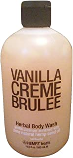 Hempz Vanilla Creme Brulee - Herbal Body Wash - 18.6 fl oz / 550 ml