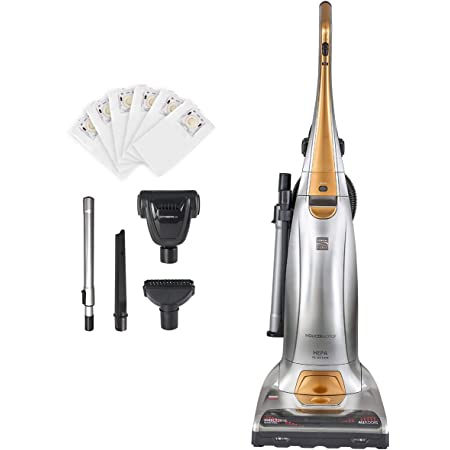 Kenmore BU1017 Pet Friendly Lightweight Bagged Upright Beltless Vacuum Cleaner 3-Motor Power Suction with Pet Handi-Mate, Triple HEPA, Telescoping Wand, 5-Position Height Adjustment, 3 Cleaning Tools