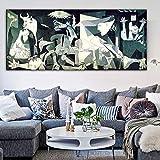 Picasso Guernica famoso lienzo de pintura impresión en lienzo ilustraciones de la lona impresiones del arte reproducciones cuadros de la pared decoración del hogar No Frame