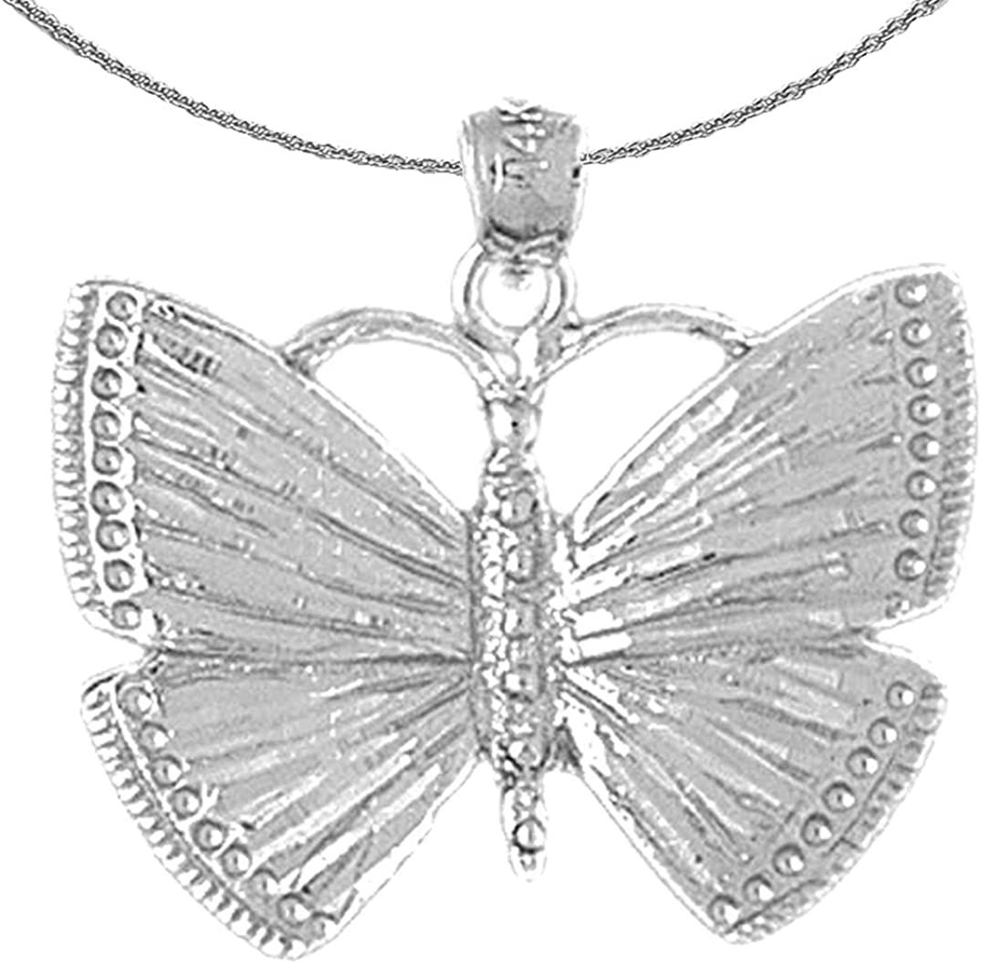 Jewels Obsession Gold National uniform free shipping Butterflies free shipping Butt 14K Necklace White