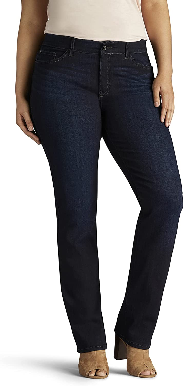 Lee Women's Limited time for free shipping Plus Size Flex Motion Leg Straight Jean Fit Choice Regular