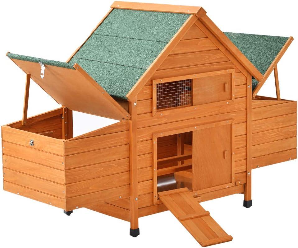 Zebery Rabbit Hutch 36 Single Deck Waterproof Wooden Chicken Coop Hen House Pet Animal Poultry Cage Rabbit Hutch