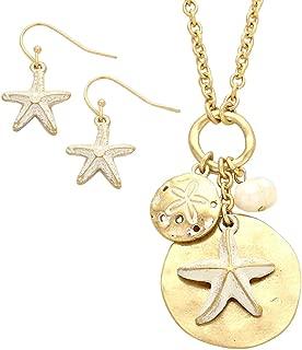 Women's Nautical Starfish and Sand Dollar Fashion Jewelry Set