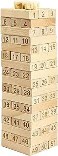 Wooden Tower 51 Pcs Wood Building Blocks Domino Jenga Game toy Amusing Kids Gift