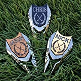 Personalized Golf Ball Marker   Custom Engraved Divot Tool   Golfers Accessories REAL Wood Markers