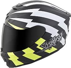Exo-R420 Full-Face Tracker Helmet White/Neon M