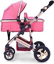 LBRVICTRY Cochecito De Bebe Plegable Carrito De Bebe Silla De Paseo 0-36 Meses MAX 25 Kg Seguridad Buggy Respaldo Reclinable,Pink(C)
