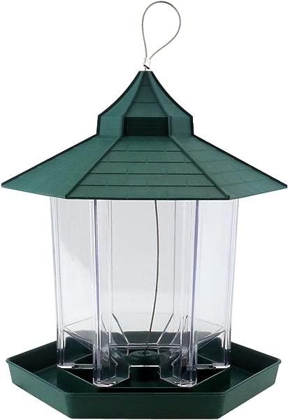 Ogrmar 悬挂凉亭野生鸟类喂食器完美的花园装饰和观鸟爱好者和孩子绿色
