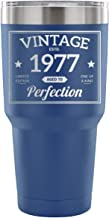 1977 41st Birthday Gift Vintage Year for Women and Men 30 Ounce Vacuum Tumbler - Vintage Aged To Perfection - Wedding Anniversary Gift Idea for Him, Her, Parents
