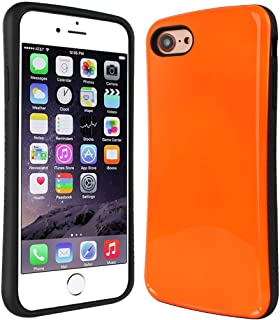 Nicexx iPhone 7 Case | iPhone 8 Case | Premium Luxury Design | Military Grade 15ft. Drop Tested | Wireless Charging | Compatible with Apple iPhone 7/iPhone 8 - Orange