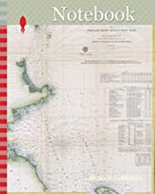 Notebook: 1857, U.S.C.S. Map of Boston's North Shore, Cape Ann, Boston, Portsmouth