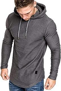 Uni Clau Mens Casual Fashion Athletic Hoodies Sport Sweatshirt Workout Lightweight Fleece Pullover
