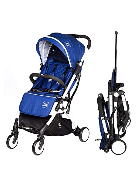 Buy Mee Mee Premium Portable Baby Stroller Pram with Compact Tri-Folding  Trolley | for Newborn/Kids, 0-5 Years (Blue) Online at Low Prices in India  - Amazon.in
