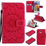 KKEIKO Galaxy S5 Case, Galaxy S5 Flip Leather Case [with