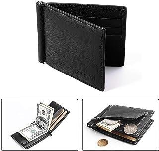 Portafogli vemingo per gli uomini RFID Blocco Portafoglio da uomo elegante con ID chiaro.
