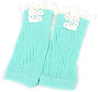 Kinshops, Kinshops Americana Cómodo Niños Niños Bebé Niña Crochet Knitted Boot Cuffs Toppers Calientapiernas Calcetines, Azul Lago