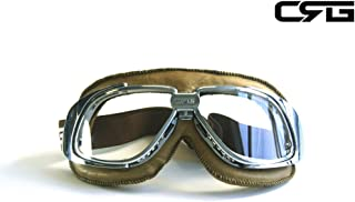 Best leather flight helmet and goggles Reviews