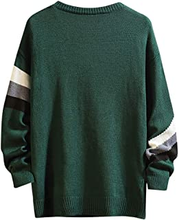 Mens Sweatshirt Hoodies Stripe Fuzzy Sweater Tops Winter Warm Crewneck Casual Pullover Hooded Jumper