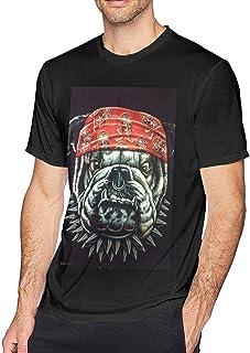 IUBBKI Camisetas con Estampado 3D Big Dog Cool Black para Hombres Camiseta 3D de Cuello Redondo de Secado rápido y Transpi...