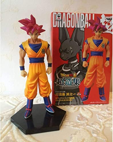 WSWJJXB Jouet Statue Dragon Ball Jouet Statue Saiyan Jouet Modèle Collection de Personnages de Dessins animés Souvenirs Sun Wukong 15CM