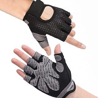 Hually Gym Handskar, Andningsbara Trähandskar med Mikrofibertyg, Halkfri Silikon Vadderat Handflata Skydd och Extra Grepp,...
