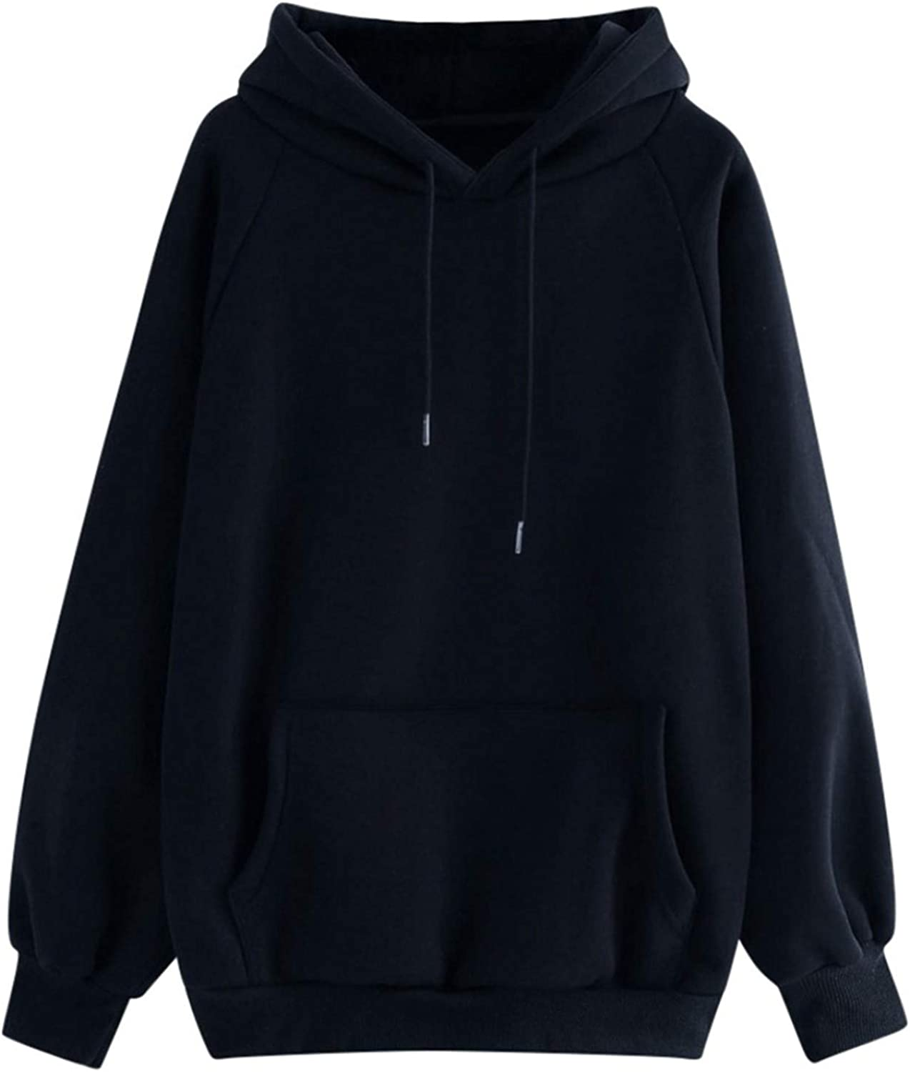 Women's Sweatshirt Fashion Casual Solid Color Long Sleeve Drawstring with Pocket Pullover Gift Hoodie Sweatshirt Tops