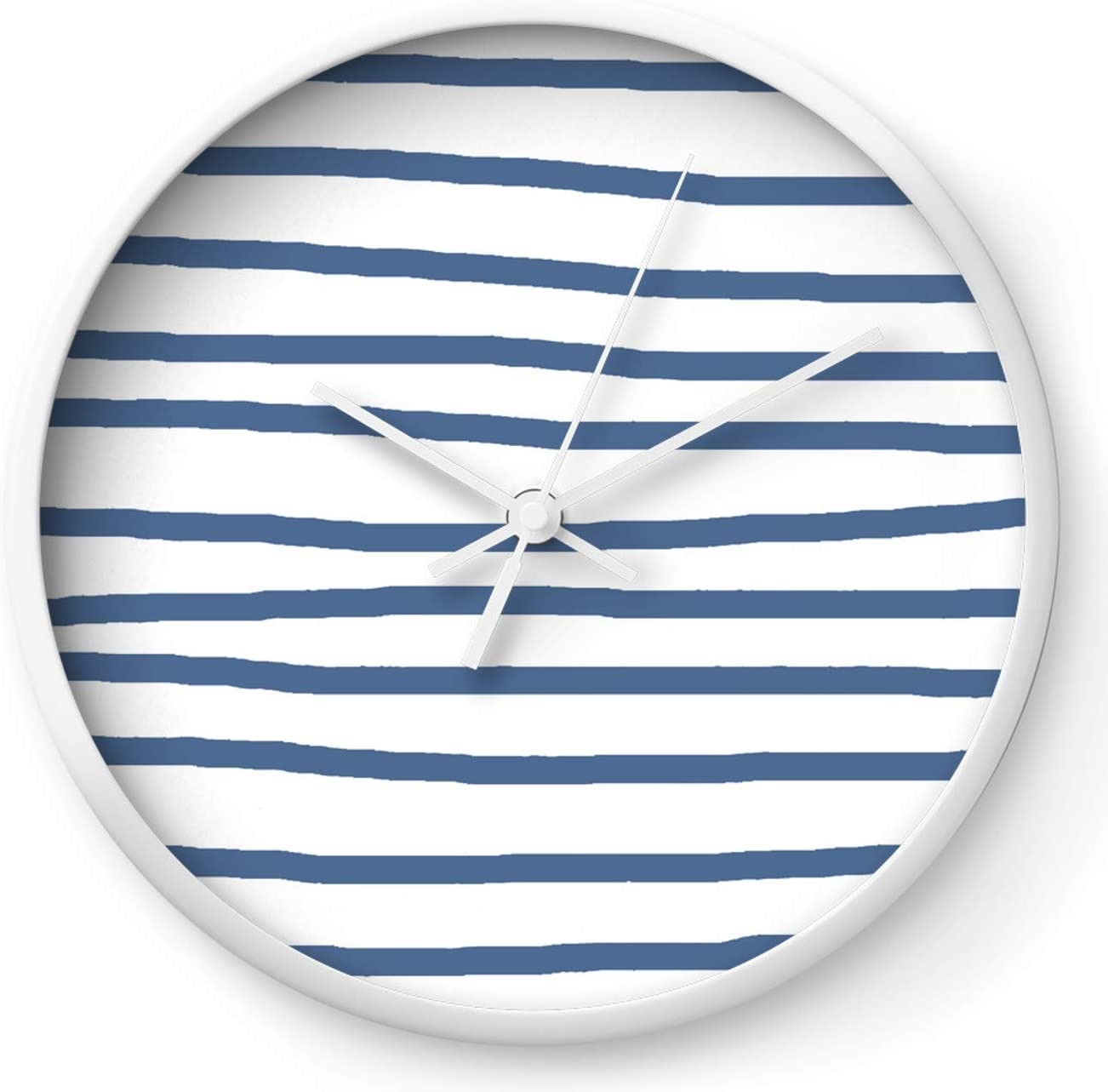 Simply Drawn Superior Stripes in Aegean Blue on and Award Simple White by Luxe