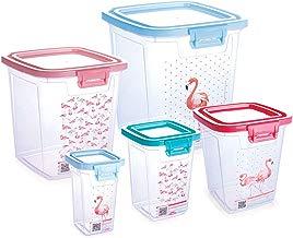 Conjunto Para Mantimentos Flamingo Com 5 Unidades Plasútil Multicor