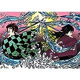 5D bordado diamante demonio Slayer fotos decoración del hogar Japón Anime pintura taladro cuadrado completo cruz puntada pared