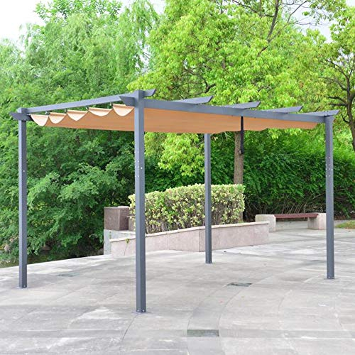 ALEKO PERGSAND10X13 Aluminum Outdoor Retractable Canopy Pergola - 13 x 10...